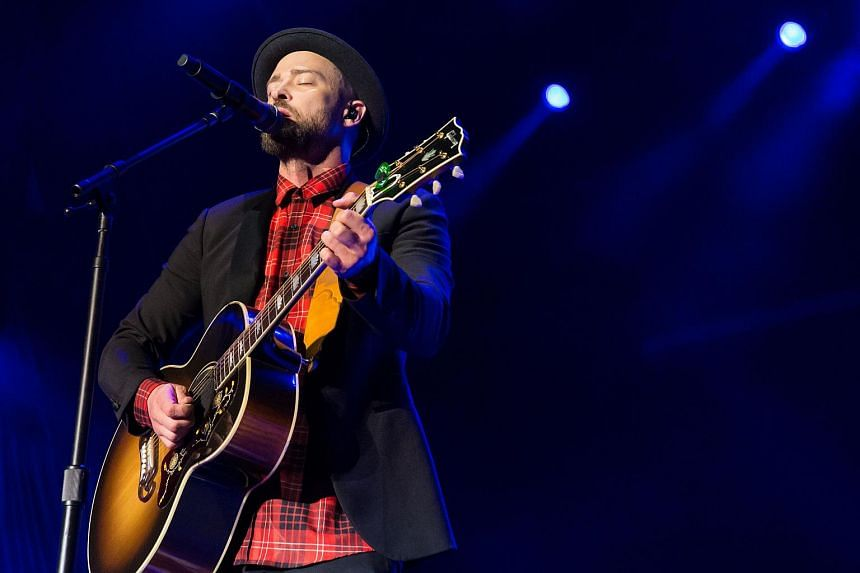 Justin Timberlake performs during the Formula 1 United States Grand Prix at Circuit of The Americas on Oct 21, 2017, in Austin, Texas.