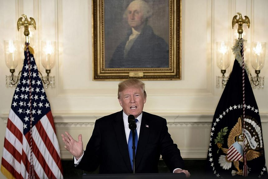 United States President Donald Trump said in an interview aired on Sunday (Oct 22) he does not object to France and Germany continuing trade with Iran, despite his refusal to certify the Iran nuclear deal.
