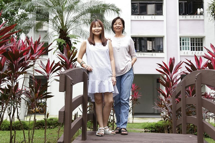 Ms Ang Yeh Ray (left) and her mother, Mrs Ang Tang Hwa, have lupus. Ms Ang's aunt died of the disease at age 28. Lupus sufferer Rita Lim had three miscarriages before becoming pregnant again in 2015, when she gave birth to son Anderz. She credits hus