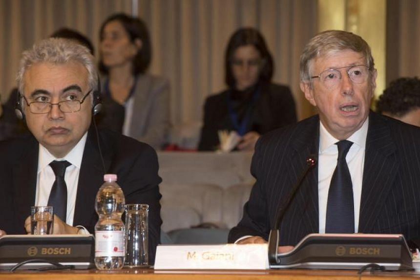 Executive Director of International Energy Agency, Fatih Birol (left), and Director General for Global Issues of Italy's Ministry of Foreign Affairs and International Cooperation, Massimo Gaiani, attend IEA event Energy Access Outlook: From Poverty T
