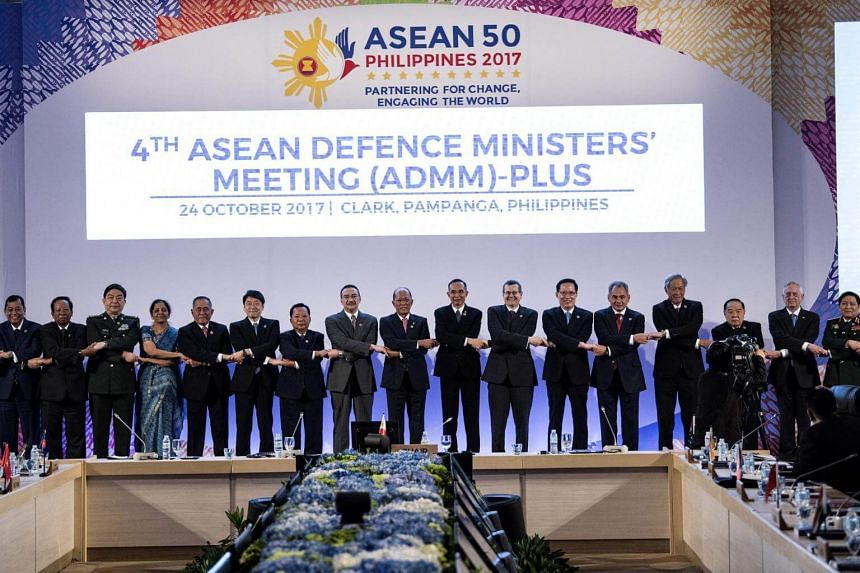 The 11th Association of South-east Asian Nations (Asean) Defence Ministers at the Clark freeport in the north of Manila on Oct 24, 2017.