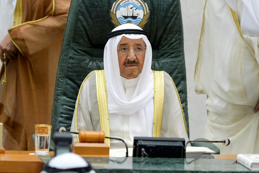 """Emir Sheikh Sabah Al-Ahmed Al-Sabah said Kuwait's goal was to save the Gulf Cooperation Council union from """"cracking and collapsing""""."""