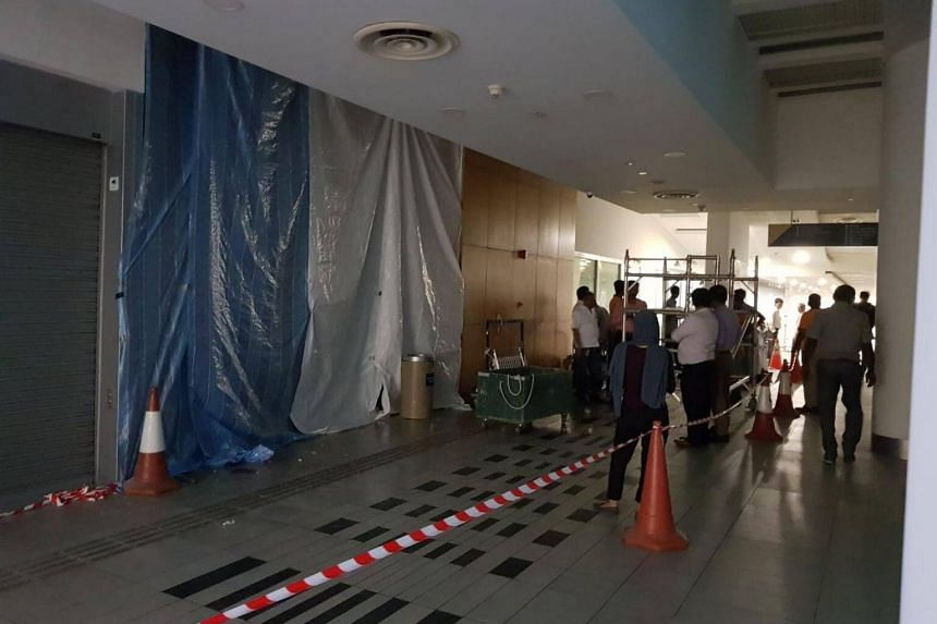 The incident occurred at the basement of SMU's School of Information Systems at around 5pm.