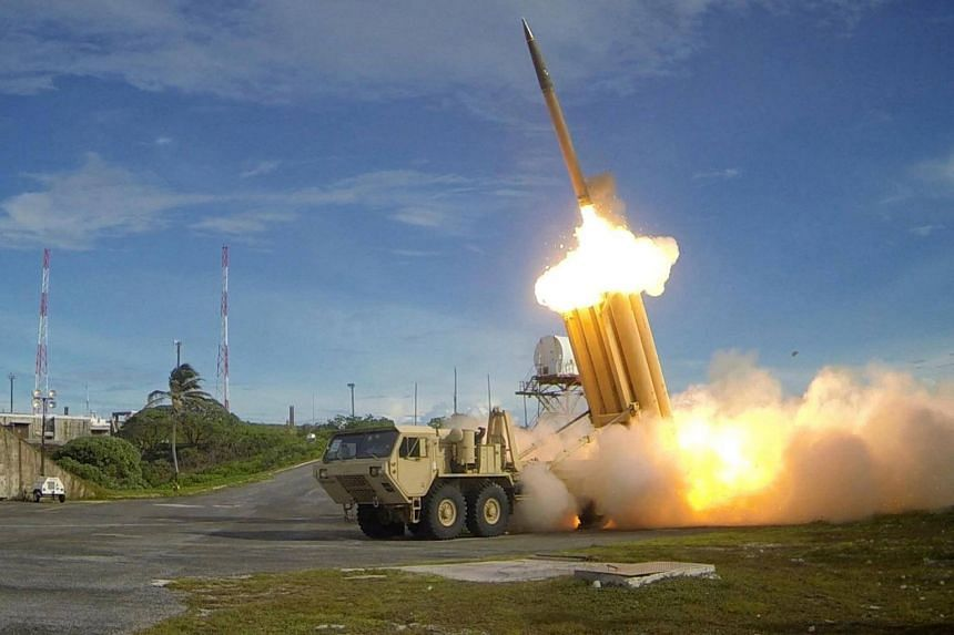 A Terminal High Altitude Area Defence (Thaad) interceptor is launched during a successful intercept test.