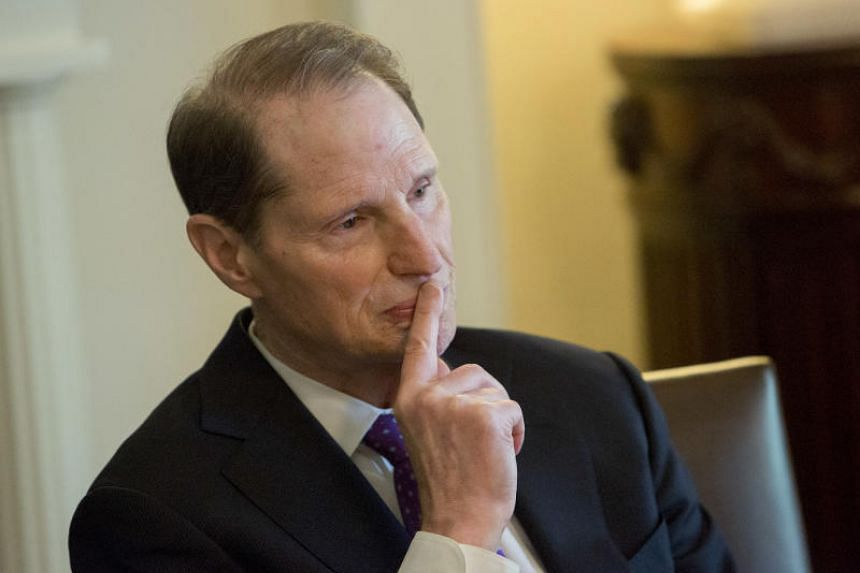 Senator Ron Wyden, a Democrat from Oregon and ranking member of the Senate Finance Committee, in the Cabinet Room of the White House in Washington, US on Oct 18, 2017.