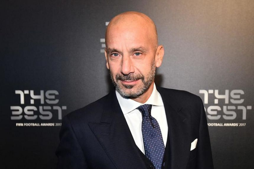 Italy's former player Gianluca Vialli poses for a photograph as he arrives for The Best Fifa Football Awards ceremony, on Oct 23, 2017 in London.
