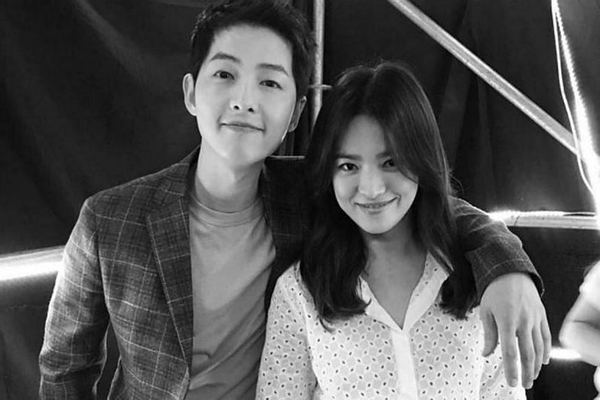 Song Joong Ki and Song Hye Kyo met while filming last year's hit drama series Descendants Of The Sun.