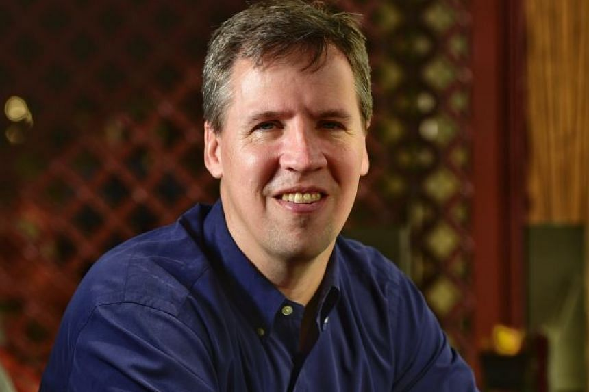 Jeff Kinney was in Singapore last week to meet young fans ahead of the publication of his 12th book, Diary Of A Wimpy Kid: The Getaway, next month.