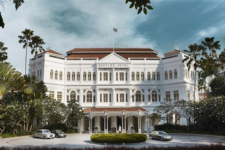 Raffles Hotel's renovation and restoration works are the most extensive since 1989. The works include (clockwise from above, left): retiling of the roof; conversion of Jubilee Hall into a 300-guest ballroom; and stripping back the paint on the facade
