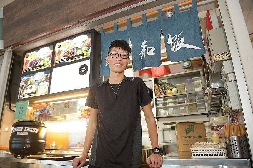 SIT graduate Raphael Sim worked part-time as a waiter so he could have time to start a food stall business in Bedok North.