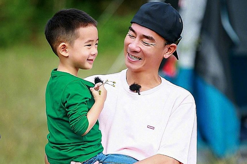 Zhou Ying (played by Sun Li) plays by her own rules in Nothing Gold Can Stay. Jordan Chan and his son Jasper in Dad Where Are We Going 5.