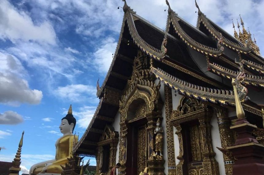 The Wat Rajamontean Temple in Chiang Mai, which is home to more than 300 temples.