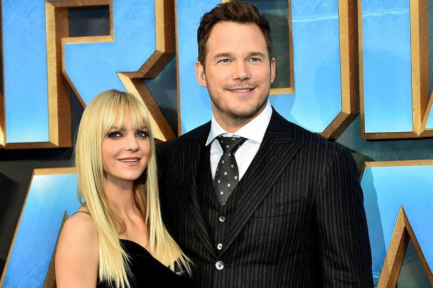 Chris Pratt and Anna Faris attending a premiere of the film Guardians of the galaxy, Vol. 2 in London.