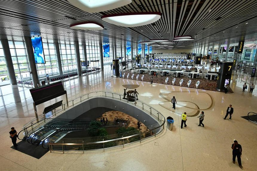 The departure hall at Changi Airport's Terminal 4 on Oct 24, 2017.
