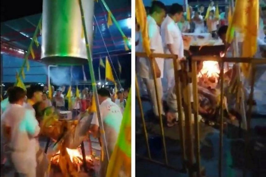 "Taoist medium Lim Ba suffered a heart attack and burns after attempting to perform the ""steaming man"" ritual at the Kuala Sanglang temple in Kedah."
