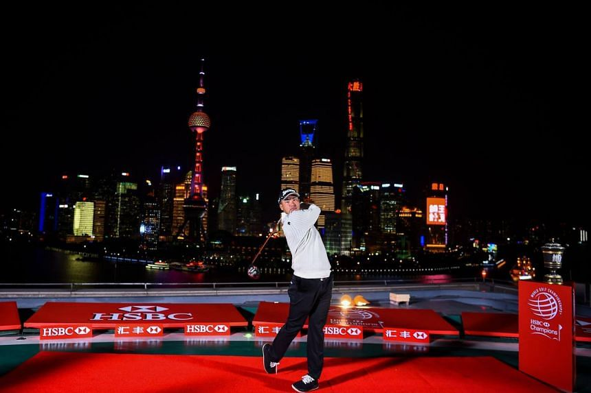 Hideki Matsuyama of Japan poses during the launch event for the HSBC-World Golf Championships in Shanghai on Oct 24, 2017.