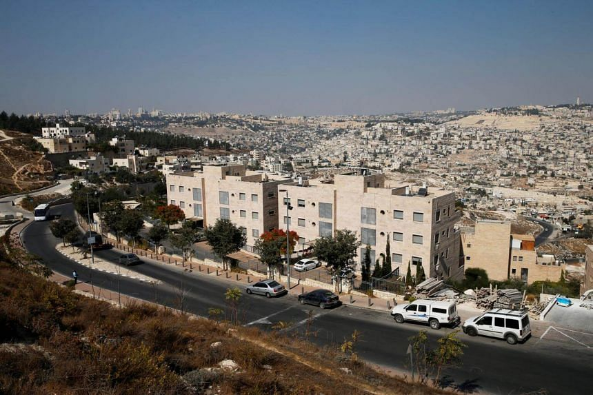 The Jewish settler enclave of Nof Zion is seen in East Jerusalem, on Oct 25, 2017.