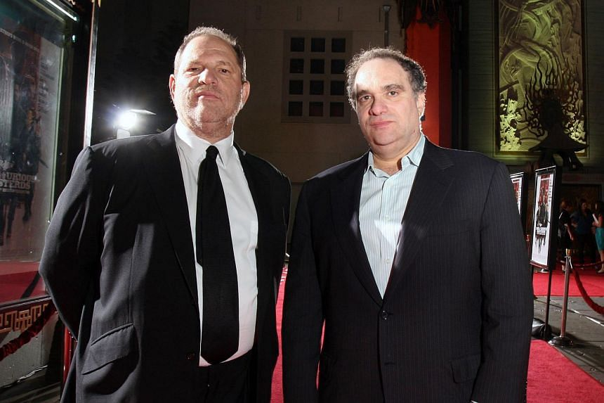 Harvey Weinstein (left) and his brother Bob Weinstein, outside the Grauman's Chinese Theater in Los Angeles in 2009.