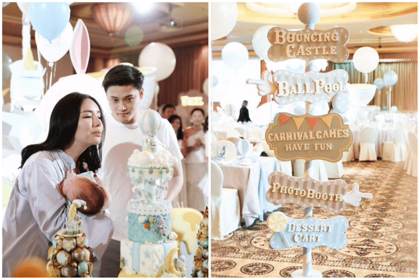 Ms Kim Lim threw a lavish party for her son's 99th-day celebration at the Ritz-Carlton, Millenia Singapore on Oct 22, 2017.