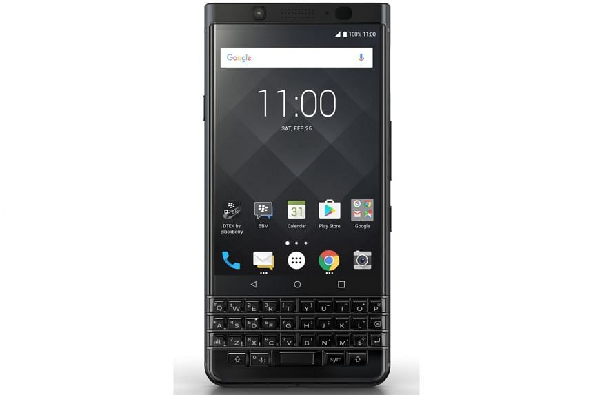 The latest model to reach Singapore is the BlackBerry KEYone, which sports a physical keyboard that is synonymous with the brand. It went on sale here on Oct 21.