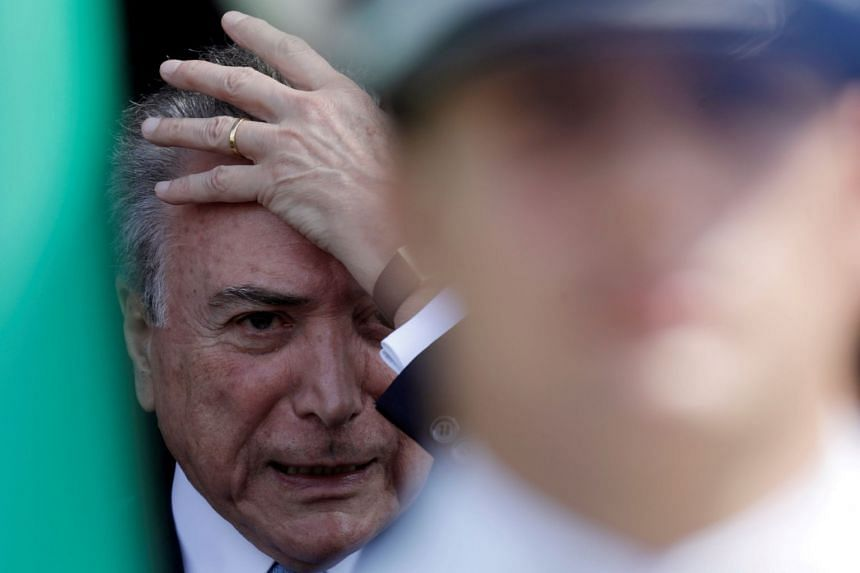 Temer attends a medal-giving ceremony in Brasilia, on Oct 23, 2017.
