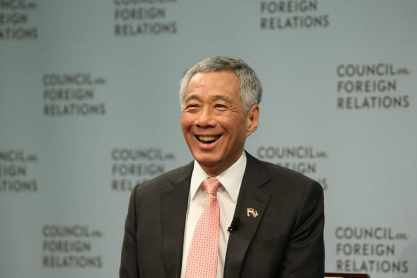 PM Lee Hsien Loong speaking at the Council of Foreign Relations on Oct 25, 2017.