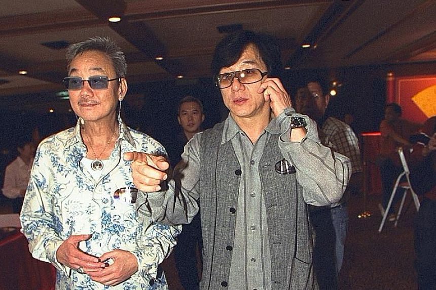 Jackie Chan and his manager Willie Chan.