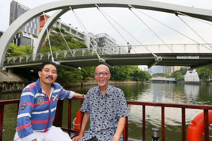 Captain Frederick James Francis (left) and Mr James Seah are among those featured in the Singapore River Festival's initiative that pays homage to those intrinsically linked to the river and its heritage.