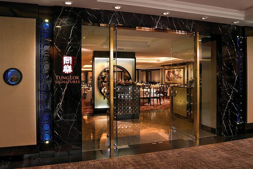Tung Lok Signatures restaurant at Orchard Parade Hotel.