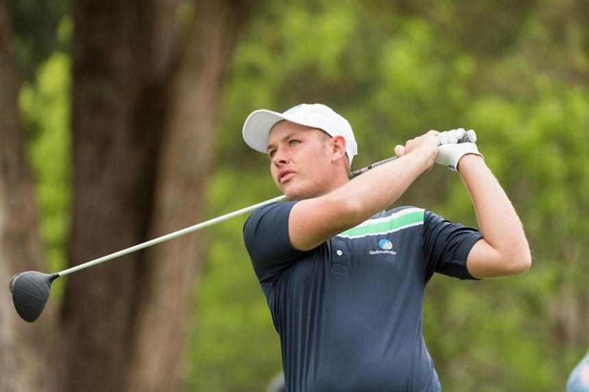 Australia's Shae Wools-Cob, 21, fired an eight-under 63 to take a four-shot lead after the first round of the Asia-Pacific Amateur Championship at the Royal Wellington Golf Club in New Zealand on Oct 26, 2017.