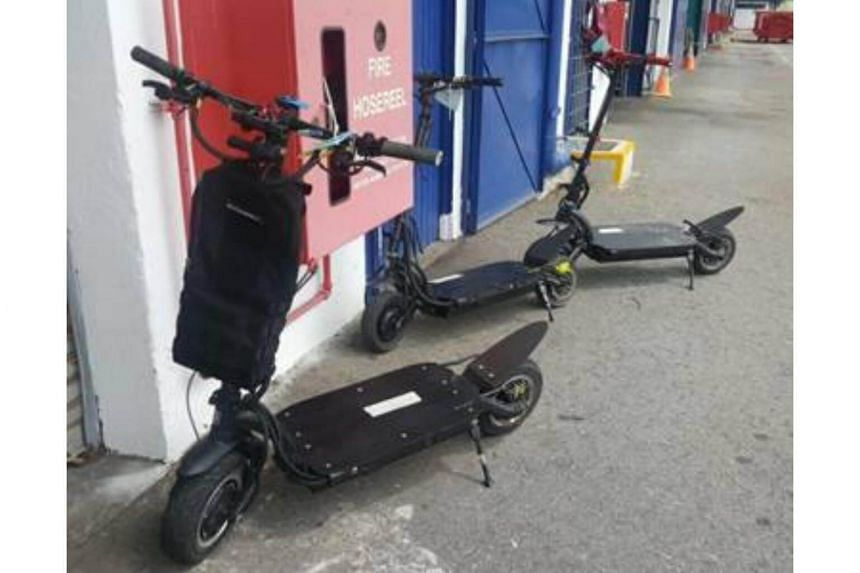Three men, aged between 32 and 37, had travelled at speeds of up to 130kmh on their electric scooters.