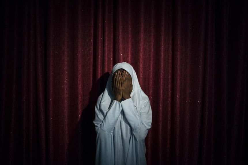 Maryam, 16, who refused to carry out a suicide bombing for Boko Haram, in Maiduguri, Nigeria.