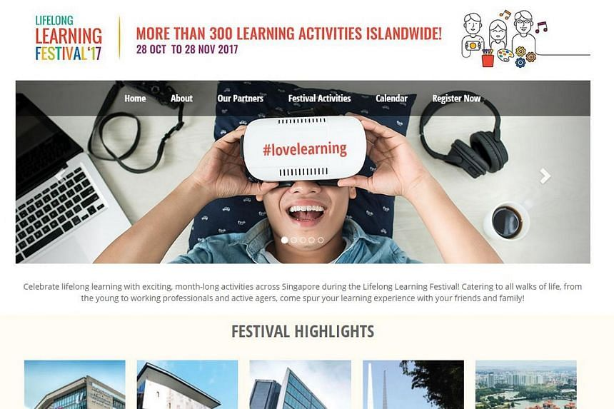 A screengrab of the Lifelong Learning Festival 2017 website.