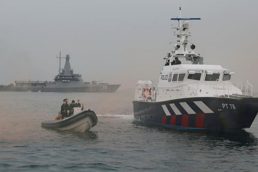 """Terrorists"" in speedboats were part of Exercise Highcrest, a multi-agency biennial maritime security exercise."