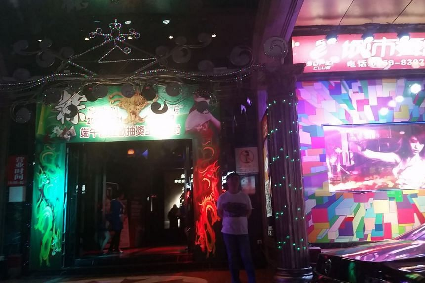 """A nightclub in Dongguan, China's infamous """"sin city""""."""