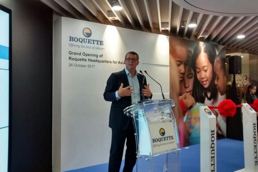 Roquette CEO Jean-Marc Gilson at the opening of the company's new Asia HQ and innovation centre in Singapore.