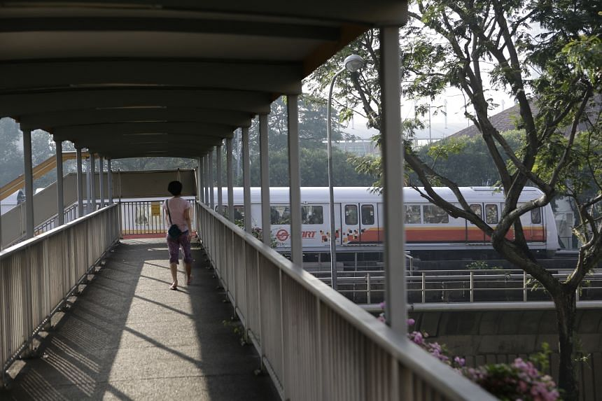 SMRT said it had to run trains at lower speeds over a 150m stretch between Bishan and Ang Mo Kio stations, resulting in a bunching up.