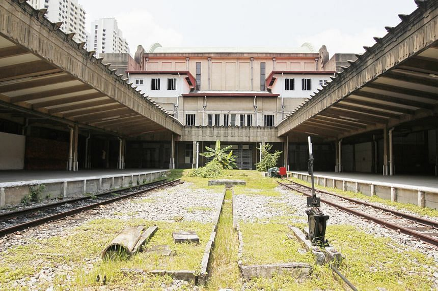 Above: Only 80m of the two platforms at the railway station and the original building have been gazetted as a national monument, and will be left in their original form, says architectural restoration specialist Ho Weng Hin.