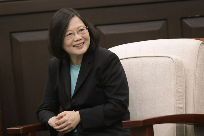 Taiwan President Tsai Ing-wen said Taipei and Beijing need to drop their historical retaliation, focus on better dialogue and peacefully develop cross-strait relations.