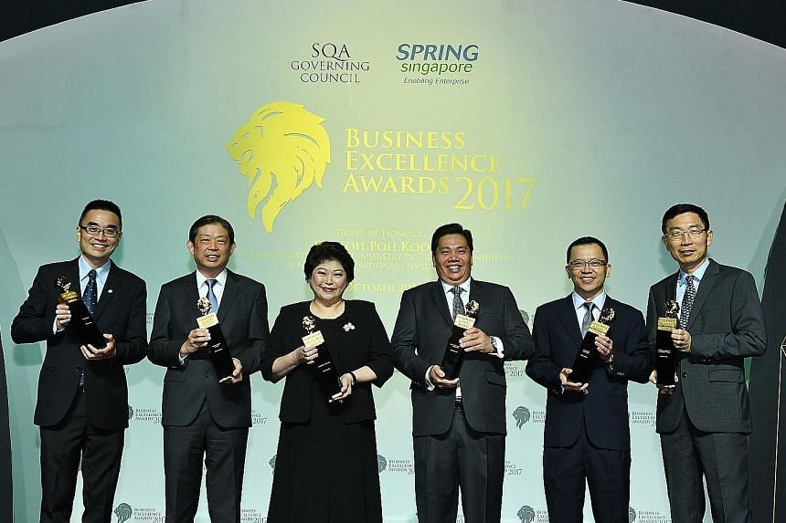 From left: Mr Chuah Kee Heng, managing director of SP Services; Mr Vincent Tan, managing director of Select Group; Ms Susan Chong, chief executive officer of Greenpac; Mr Neo Kah Kiat, founder, chairman and chief executive officer of Neo Group; Mr Au