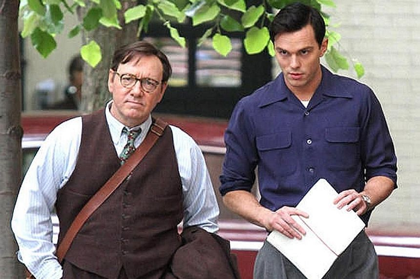 Kevin Spacey (far left) and Nicholas Hoult star in Rebel In The Rye, a new film about J.D. Salinger released in theatres last month.