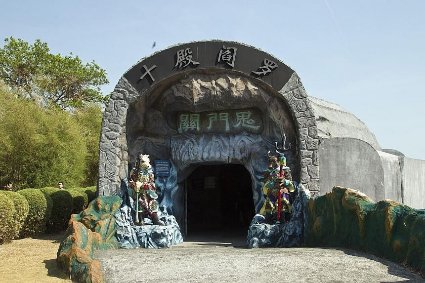 A tour of Haw Par Villa's 10 Courts of Hell is meant to be a chance for visitors to have a serious think about taboo concepts such as death and the afterlife.