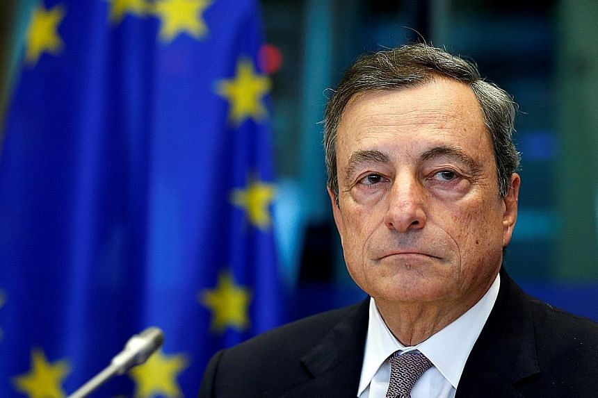 European Central Bank President Mario Draghi said that since core inflation in the euro zone has not shown an uptick, an ample degree of monetary stimulus remains necessary. The bank thus twinned cutting the bond buys with a nine-month extension of t
