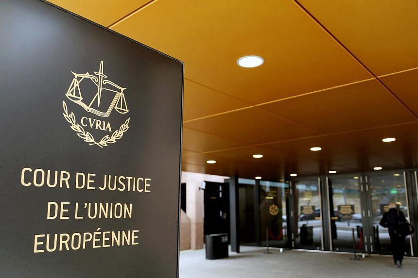 The entrance of the European Court of Justice is pictured in Luxembourg, on Jan 26, 2017.