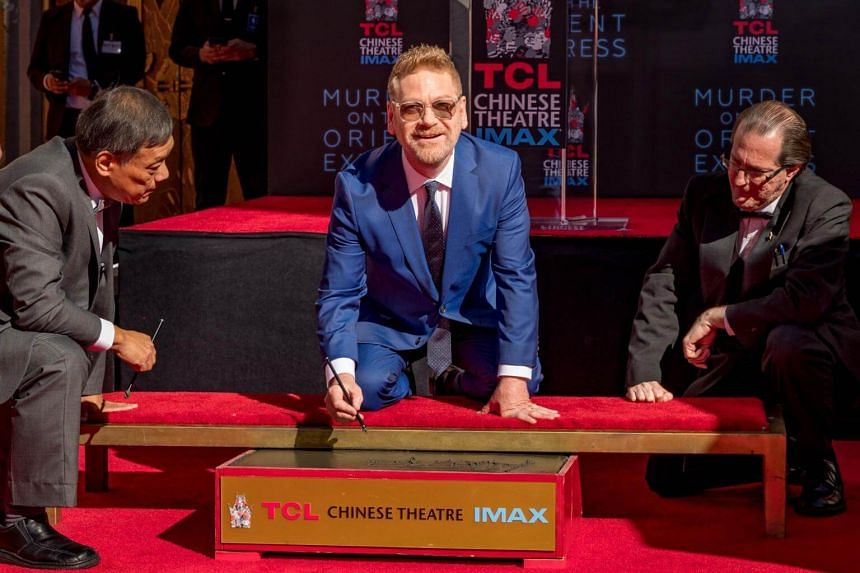 Kenneth Branagh during the Hand And Footprint Ceremony at TCL Chinese Theatre in Hollywood, California, on Oct 26, 2017.