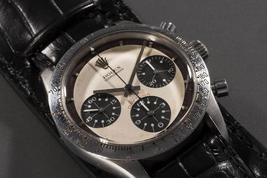 "The stainless-steel Daytona Rolex was the star of a special 50-lot evening sale, ""Winning Icons - Legendary Watches of the 20th Century,"" at Phillips auction house."