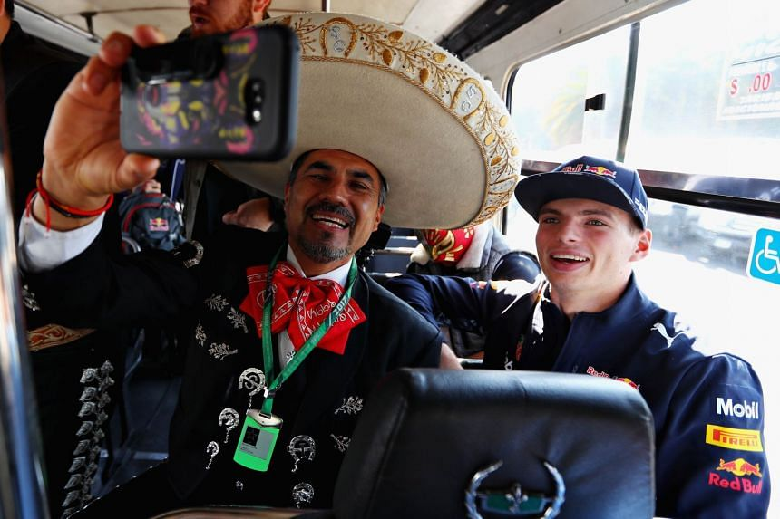 Verstappen travels to the circuit with a mariachi band during previews for the Mexican grand prix, Oct 26, 2017.