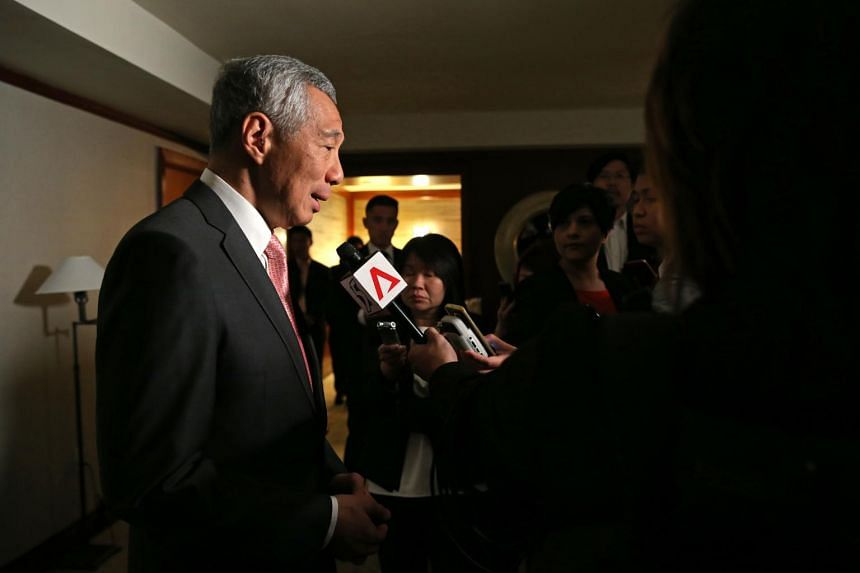 Prime Minister Lee Hsien Loong give a wrap-up interview to the media, of the working visit to Washington DC.
