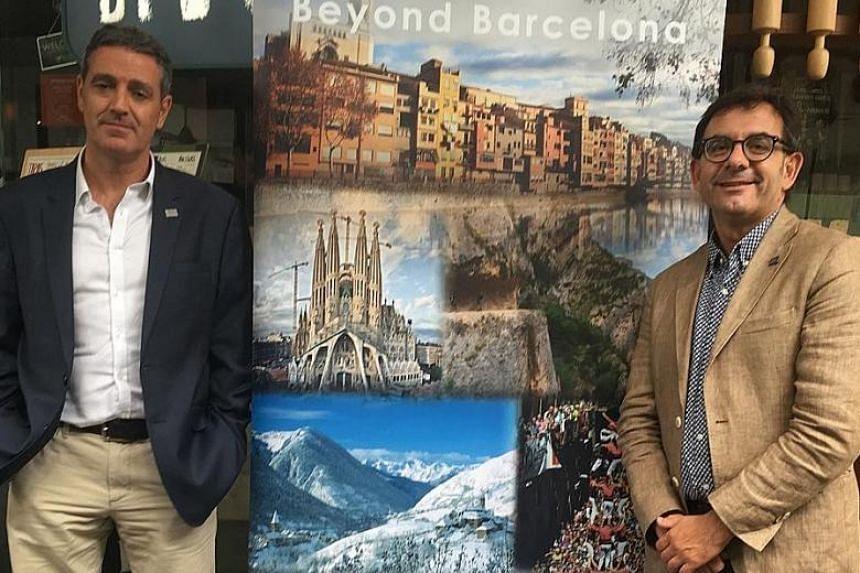 Catalan Tourist Board Asia-Pacific director David Miro (left) and Costa Brava Girona Tourist Board marketing and promotional director Jaume Marin.