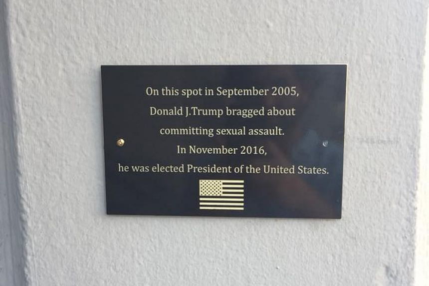 A photo of the plaque was shared widely on social media.